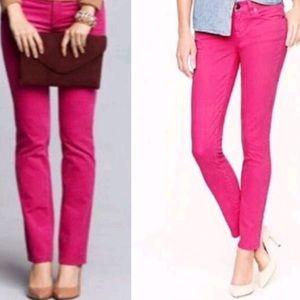 J. Crew Magenta Pink Matchstick Corduroy Pants 29S